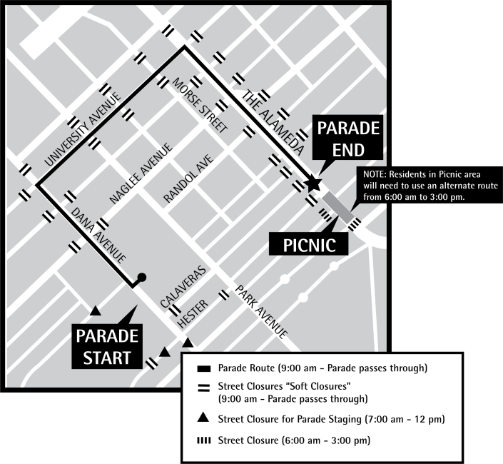 RWB Parade Route Map